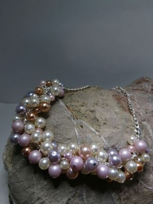 Multi Pearl Cluster Necklace